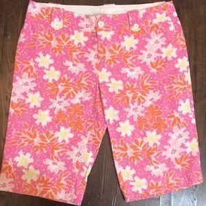 Lilly Pulitzer Floral Bermuda Shorts